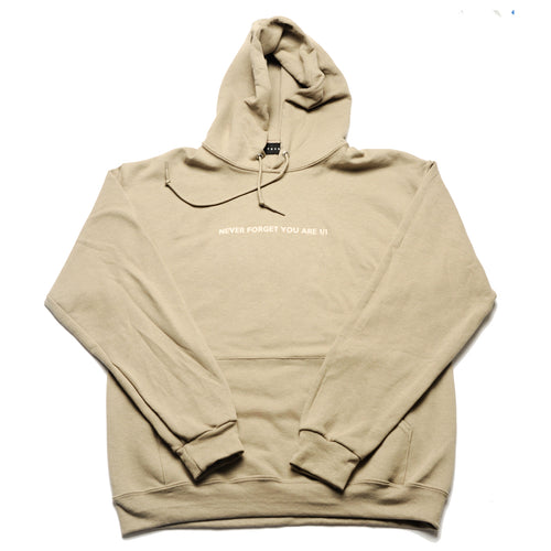 Never Forget You Are 1/1 Khaki Hoody