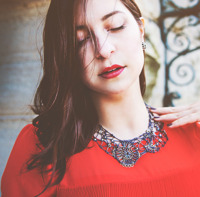 Fleurie chainmaille necklace by Carolina Cole