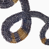Serpentine chainmaille necklace in oxidized sterling silver and 18KY gold