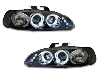 Angel Eye HALO Projector Head Lights for Honda Civic EG - Black (1992 - 1995 Models) - Spoilers And Bodykits Australia