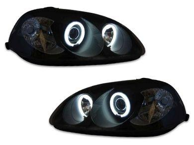 Angel Eye HALO Projector Head Lights for Honda Civic EK - Black (1996 - 1998 Models) - Spoilers And Bodykits Australia