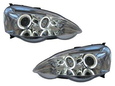 Angel Eye HALO Projector Head Lights for Honda Integra DC5 Type R - Chrome (2001 - 2003 Models) - Spoilers And Bodykits Australia