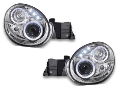 Angel Eye HALO Projector Head Lights for Subaru Impreza WRX   STI  GD - Chrome (2000 - 2002 Models) - Spoilers And Bodykits Australia