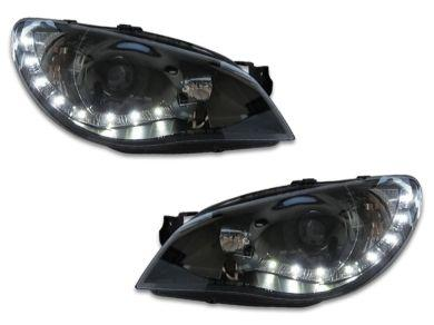 DRL Projector Head Lights for Subaru Impreza WRX  STI  RX - Black (2005 - 2007 Models) - Spoilers And Bodykits Australia