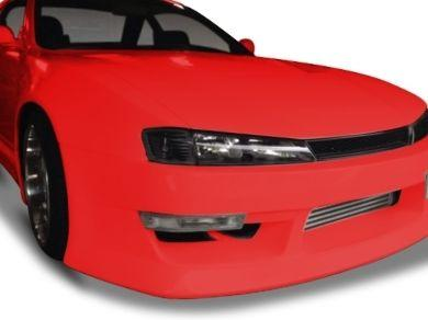 Head Lights & Corner  Indicator Lights for Nissan Silvia S14  200SX - Black (1996 - 1998 Models) - Spoilers And Bodykits Australia
