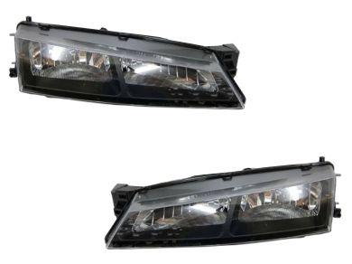 Head Lights for Nissan Silvia S14  200SX - Black (1996 - 1998 Models) - Spoilers And Bodykits Australia