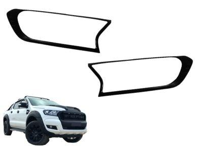 Headlight Surrounds for PX 2 Ford Ranger - Black (2015 - 2018) - Spoilers and Bodykits Australia
