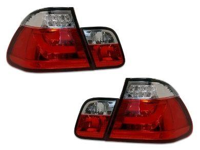 LED 3D Light Bar Tail Lights for BMW E46 318i / 320i / 323i / 330i Sedan - Clear/Red Lens (1998 - 2001 Models) - Spoilers And Bodykits Australia