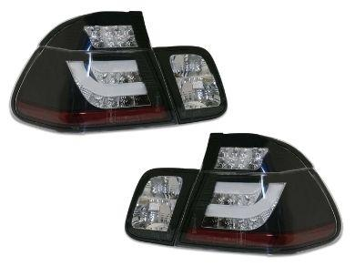 LED 3D Light Bar Tail Lights for BMW E46 318i  320i Sedan - Black (1998 - 2001 Models) - Spoilers And Bodykits Australia