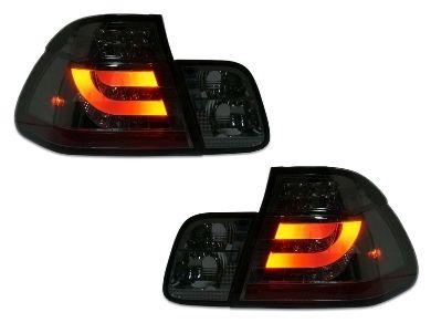 LED Light Bar Tail Lights for BMW E46 318i  320i  323i  330i Sedan - Smoked Lens (1998 - 2001 Models) - Spoilers And Bodykits Australia