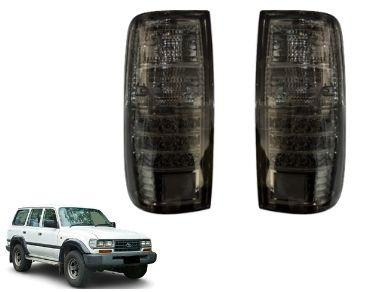 LED Tail Lights for 80 Series Toyota Landcruiser - Smoked Black Lens (05/1990 - 12/1997 Models) - Spoilers and Bodykits Australia