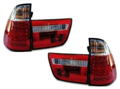 LED Tail Lights for BMW X5 E53 - ClearRed (1999 - 2002 Models) - Spoilers And Bodykits Australia