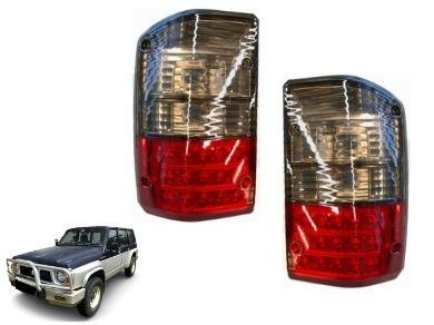 LED Tail Lights for Nissan Patrol GQ - Series 1 & 2 Models - Smoked Black  Red (1988 - 101997 Models) - Spoilers And Bodykits Australia