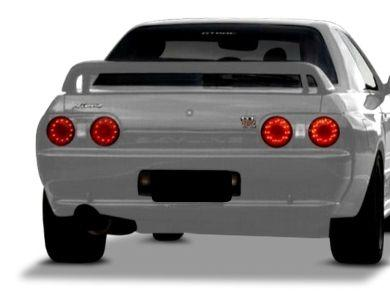 LED Tail Lights for R32 Nissan Skyline Coupe GTR  GTST - ClearRed (1989 - 1994 Models) - Spoilers And Bodykits Australia