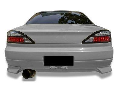 LED Tail Lights with Sequential Indicators for Nissan Silvia S15 200SX - Black (1999 - 2002 Models) - Spoilers And Bodykits Australia