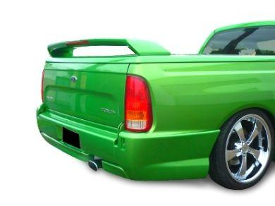 Rear Bumper Bar for AU  BA  BF Ford Falcon Ute for SINGLE Exhaust - Pursuit Style - Spoilers And Bodykits Australia