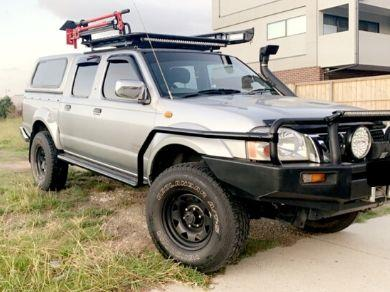 Side Steps & Brush Bars for Nissan Navara D22 Dual Cab - Heavy Duty (1997 - 2016 Models) - Spoilers and Bodykits Australia