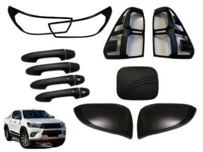 Black Out Accessories Package for Toyota Hilux SR5 - 5-Piece (8/2015 - 6/2018 Models) - Spoilers and Bodykits Australia