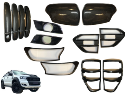 Cover Kit for PX 2 Ford Ranger - Carbon Fibre Style 6 Pieces (2015 - 2018) - Spoilers and Bodykits Australia