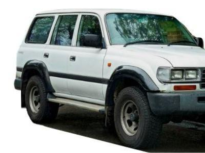 Flares for 80 Series Toyota Landcruiser - Set of 4 for Front & Rear Wheels Arches - Spoilers and Bodykits Australia