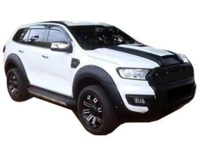 Flares for Ford Everest - Matt Black - Set of 4 - Chunky Style (2015 - 2019 Models) - Spoilers and Bodykits Australia