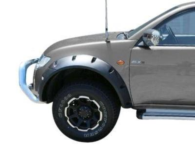 Flares for Mitsubishi Triton MN / ML - Set of 2 for Front Wheel Arches - Smooth Finish - Chunky Style (2006 - 2015 Models) - Spoilers and Bodykits Australia