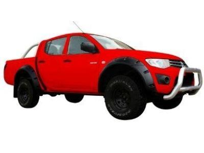 Flares for Mitsubishi Triton MN / ML - Set of 4 for Front & Rear Wheel Arches - Smooth Finish - Chunky Style (2006 - 2014 Models) - Spoilers and Bodykits Australia