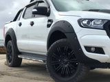 Flares for PX 1 & PX 2 Ford Ranger - Poly Propylene Matt Black Smooth Finish (Set of 4) - Spoilers and Bodykits Australia
