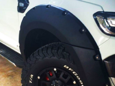Flares for PX 2 Ford Ranger - ABS Smooth Finish - Gloss Black (Set of 4) - Spoilers and Bodykits Australia