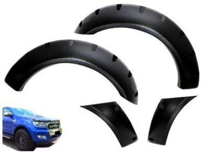 Flares for PX1 / PX2 Ford Ranger - Set of 2 for Front Wheel Arches - Wrinkle Finish - Chunky Style (2012 - 2018 Models) - Spoilers and Bodykits Australia