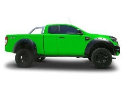 Flares for PX1 / PX2 Ford Ranger - Set of 4 for Front & Rear Wheel Arches - Wrinkle Finish - Chunky Style (2012 - 2018 Models) - Spoilers and Bodykits Australia