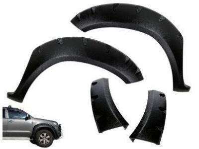 Flares for Toyota Hilux - Set of 2 for Front Wheel Arches - Wrinkle Finish - Chunky Style (2005 - 2011 Models) - Spoilers and Bodykits Australia