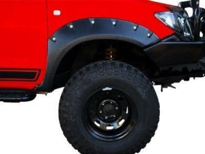 Flares for Toyota Hilux - Set of 2 for Front Wheel Arches - Wrinkle Finish - Chunky Style (2011 - 2015 Models) - Spoilers and Bodykits Australia