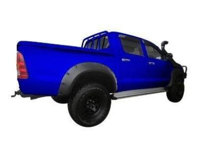 Flares for Toyota Hilux - Set of 4 for Front & Rear Wheel Arches - Smooth Finish - Chunky Style (2005 - 2011 Models) - Spoilers and Bodykits Australia