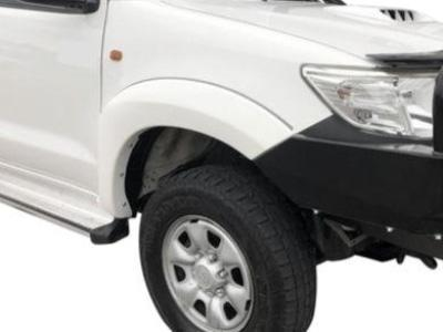Flares for Toyota Hilux - White - Set of 2 for Front Wheels (2 Pieces) (08/2011 - 2015 Models) - Spoilers and Bodykits Australia
