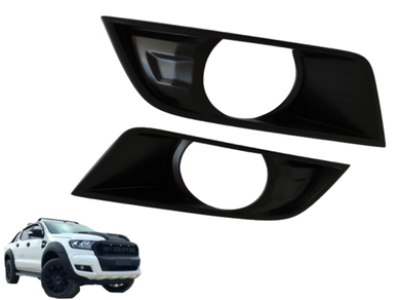 Fog Light Covers for PX 2 Ford Ranger - Black (2015 - 2018) - Spoilers and Bodykits Australia
