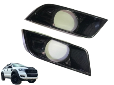 Fog Light Covers for PX 2 Ford Ranger - Carbon Fibre Finish (2015 - 2018) - Spoilers and Bodykits Australia