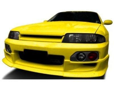 Front Bumper Bar Lower Lip Spoiler for Nissan R33 Skyline GTS / GTS-T Series 2 - Spoilers and Bodykits Australia