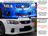 Front Grill for VE Holden Commodore - Sports Style (Series 2 Only) - Spoilers and Bodykits Australia