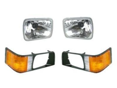 Head Lights & Corner / Indicator Lights with Black Rim Surrounds for Mitsubishi Express L300 SF - SJ (10/1986 - 04/2000 Models) - Spoilers and Bodykits Australia