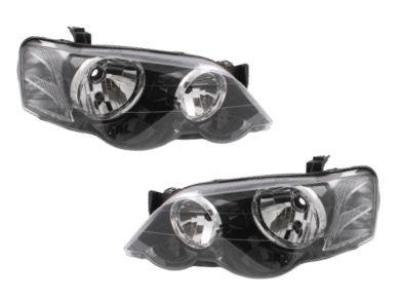 Head Lights for BA / BF XR Ford Falcon - Black (2002 - 2008 Models) - Spoilers and Bodykits Australia
