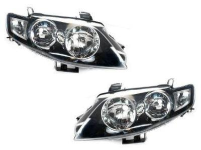 Head Lights for FG XT Ford Falcon - Black (02/2008 - 10/2014 Models) - Spoilers and Bodykits Australia