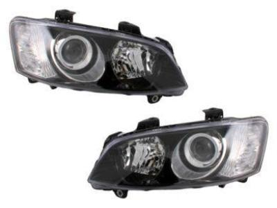 Head Lights for VE Holden Commodore SS / SS-V / Calais Series 2 - Projector Style - Black (2010 - 2013 Models) - Spoilers and Bodykits Australia