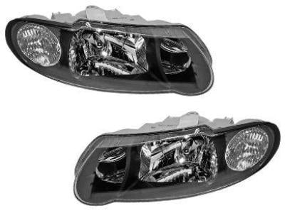 Head Lights for VU / VX Holden Commodore - SS Style - Black (2000 - 2002 Models) - Spoilers and Bodykits Australia