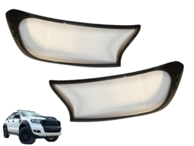 Headlight Surrounds for PX 2 Ford Ranger - Carbon Fibre Finish (2015 - 2018) - Spoilers and Bodykits Australia