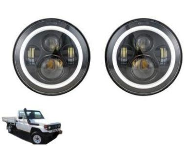 LED HALO Head Lights for Toyota Landcruiser HZJ75 75 / 78 / 79 Series - Spoilers and Bodykits Australia