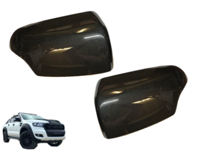 Mirror Covers for PX 1 / PX 2 Ford Ranger - Carbon Fibre Finish (2012 - 2018) - Spoilers and Bodykits Australia