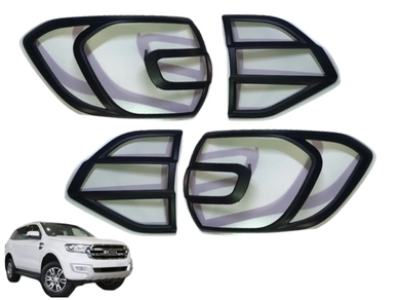 Rear Tail Light Covers for Ford Everest - Black (2015 - 2018 Models) - Spoilers and Bodykits Australia