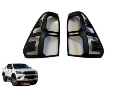 Rear Tail Light Covers for Toyota Hilux SR5 - Black (8/2015 - 6/2018 Models) - Spoilers and Bodykits Australia