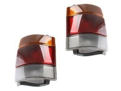 Tail Lights for VN / VP / VR / VS Holden Commodore Ute & Wagon - Smoked Black Lens (1988 - 1997 Models) - Spoilers and Bodykits Australia